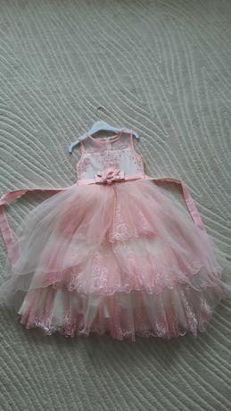 Платье детское, нежно-розовое