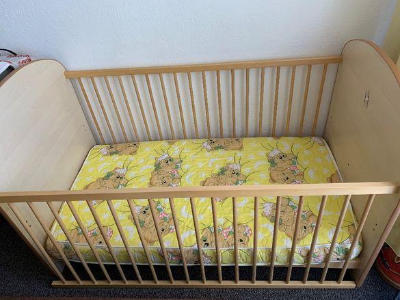 Немско бебешко / детско легло + матрак 70 x 140 см - НОВИ