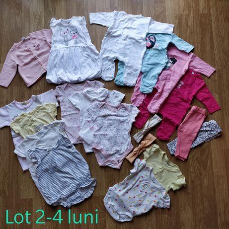 Lot haine bebeluș fetiță 2-4 luni H&M Tex George