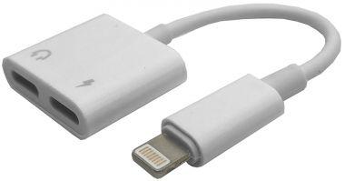 Cablu adaptor, mufa iPhone 7/8 ( 2 in 1), incarcare si casti