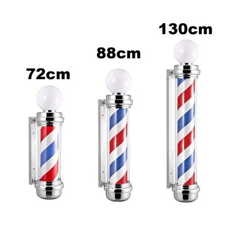 Sigla Barber Shop, Reclama luminoasa frizerie, Barber Pole, COLORAT