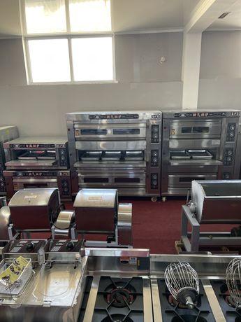 Подовая печь духовка газовая электрическая для хлеба лепешки