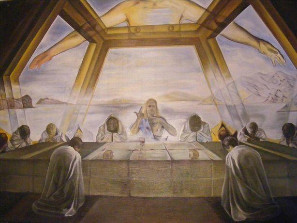 Doua tablouri ulei pe panza reproducere Dali