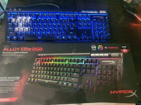 Продам игровую механическую клавиатуру hyper x alloy rgb elite
