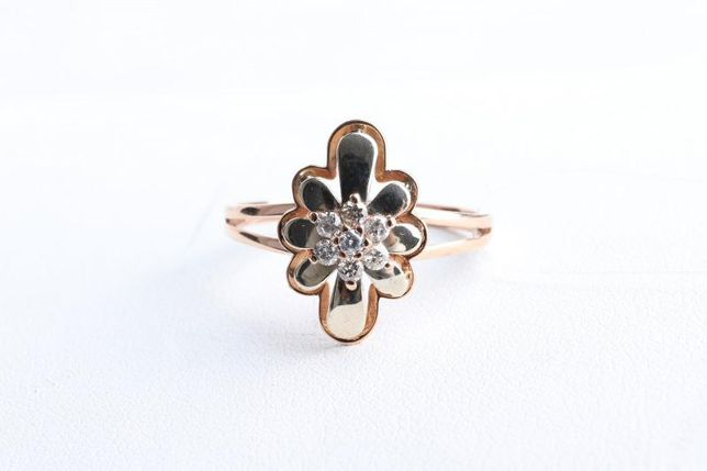 Кольцо с бриллиантами, золото 585 Россия, вес 2.09 г. «Ломбард Белый»