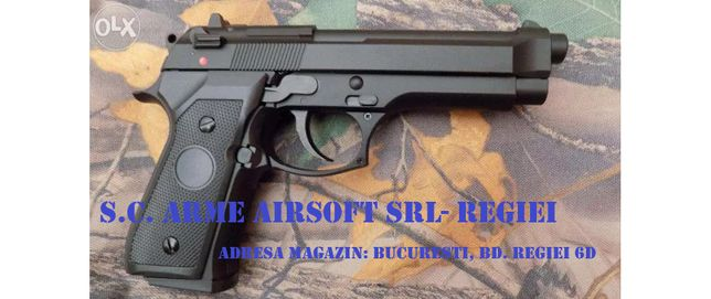 Pistol BERETTA M92 /Aer comprimat/Green Gas/ Produs Nou