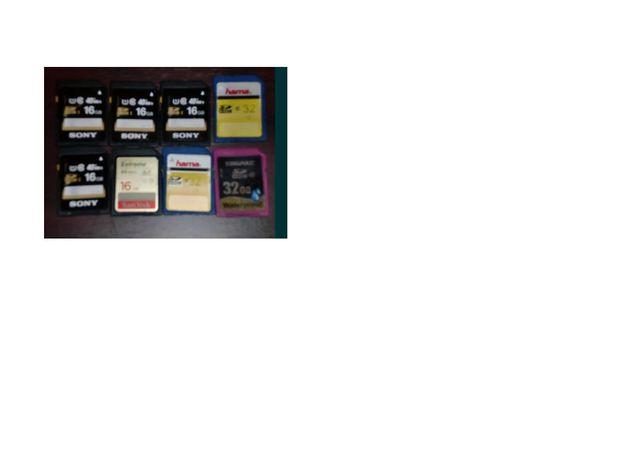 ! OFERTA ! Card foto SDHC 16gb-35lei, 32gb-40lei, clasa 10 folosite