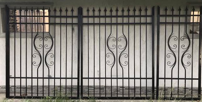 Gard metalic, porti fier forjat, Set porti, Porti metalice,Gard
