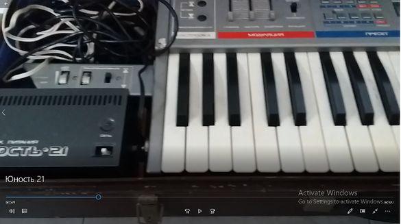 Синтезатор руски Юность 21 ВИДЕО