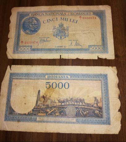 Bancnota 5000 lei - 1943