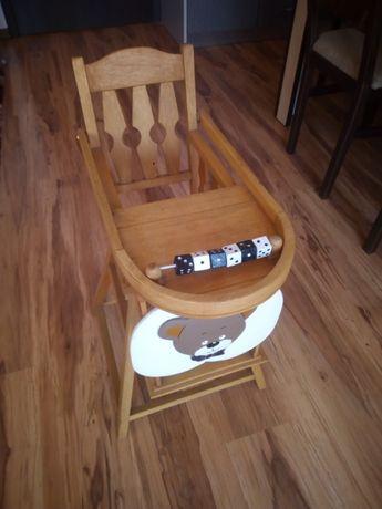 Дървено столче за игра с кукли