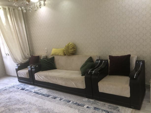 Диван. Мягкий диван. Диван с креслами. Кресло.