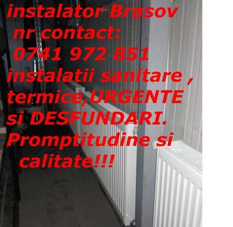 Instalator Brasov NON-STOP instalatii sanitare,termice si URGENTE