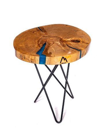 Дизайнерска маса от M wood - естествен масив и епоксидна смола. УНИКАТ