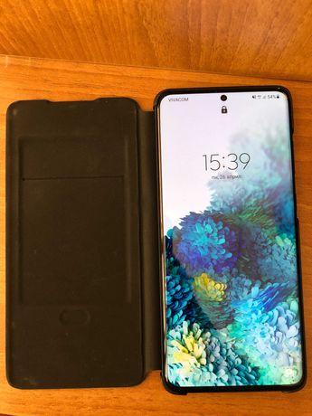Samsung Galaxy S20+, black, 128 GB вграден памет + ЛЕД калъф