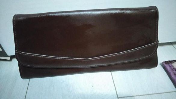 Кафява чанта портмоне