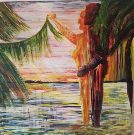 pictura - tablou - Nostalgie pe malul lacului