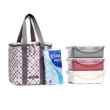 Комплект за пикник охладител и изолирана чанта, + 3 кутии по 1.2л