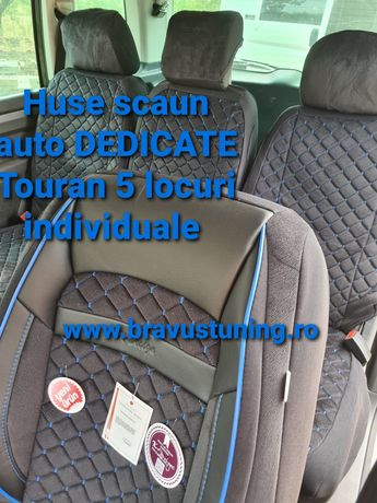 Huse scaun auto Premium DEDICATE TOURAN 5 locuri