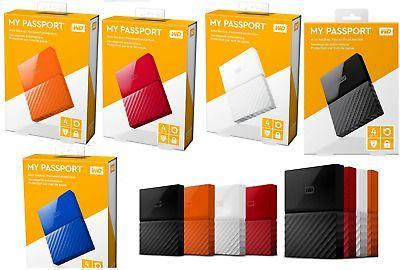 NOI SIGILATE WD My Passport hard disk portabil Hdd extern 1 2 3 4 tb
