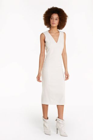 Бяла рокля Patrizia Pepe,размер 40/ S, 44/M,нова с етикет!