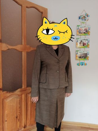 Женский костюм, двойка (пиджак и юбка) 54 размер