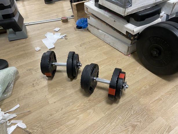 Gantere reglabile noi cu discuri cu maner 20 kg, 10+10=20 kg pret 250