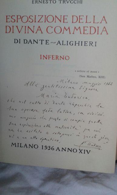 Carte rara_ Esposizione della Divina Comedia, di Dante Alighieri