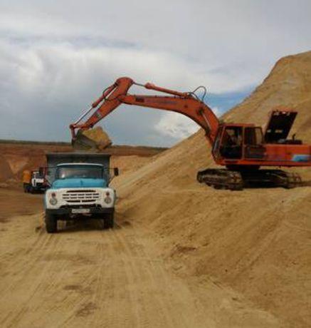Песок балласт щебень