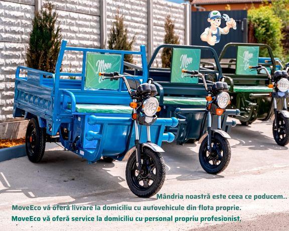 Triciclu/TukTuk electric cu bena basculabila marca MoveEco