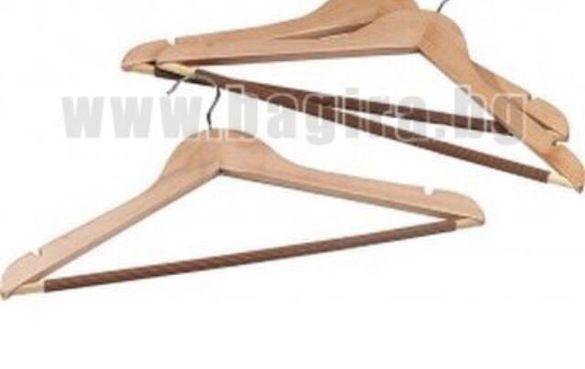 Комлект. дървени  закачалки