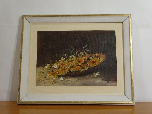 Tablou, Octav Grigorescu - Cos cu flori