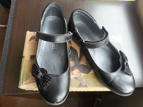 Детски кожени обувки ponki obuvki