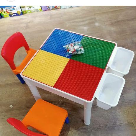 Лего стол с двумя стульями