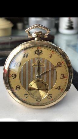 Vând ceas Omega de buzunar din aur de 14k