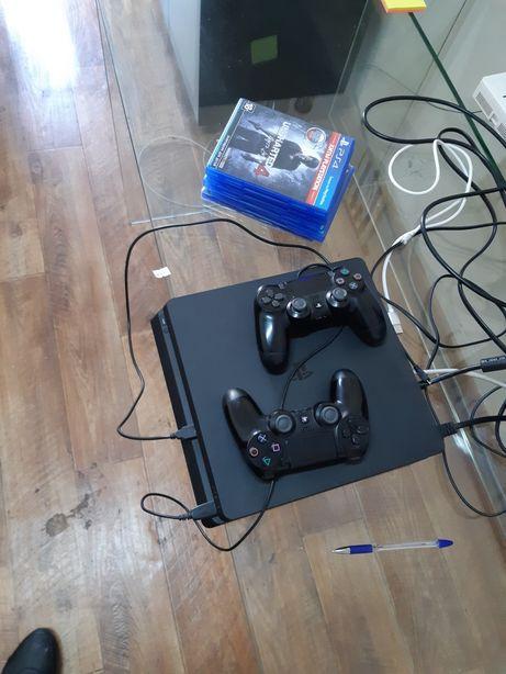 Продам ps4 sony playstation4 slim +много топовых игр