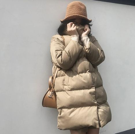 Женская зимняя куртка M-L. Новая. Фасон оверсайз