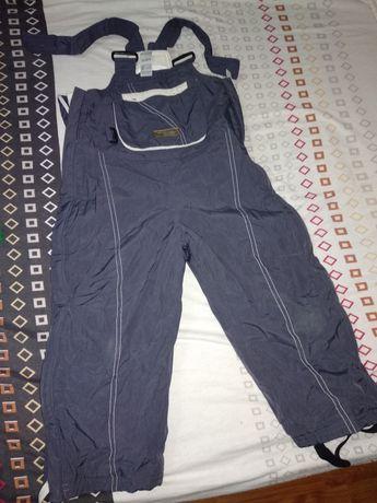 Pantaloni salopeta groși cu pieptar 3 ani