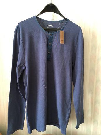 Мъжка синя блуза с дълъг ръкав Livergy