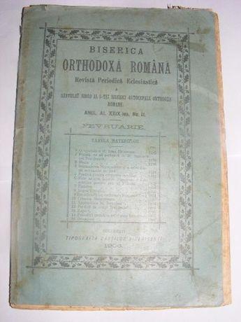 Revista Periodica Eclesiastica,Biserica Ortodoxa Romana,1906,Carte bis
