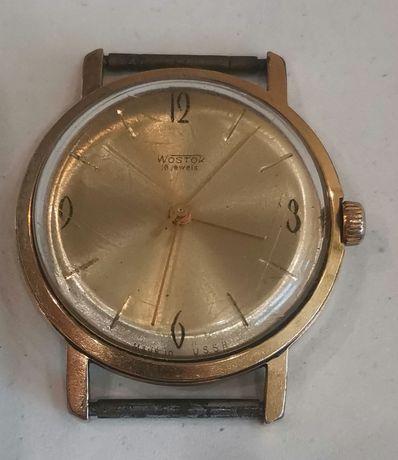 Механичен позлатен часовник Wostok 18J