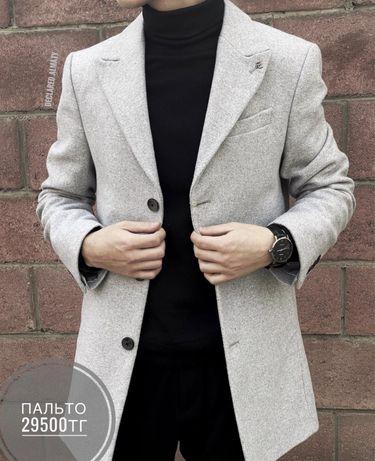 Пальто FC Plus значок серый 7124
