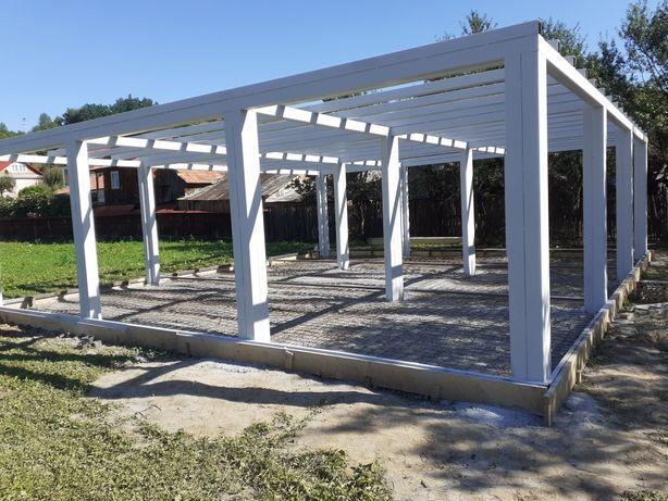 Vând  hala metalică cu structura metalică  40x10