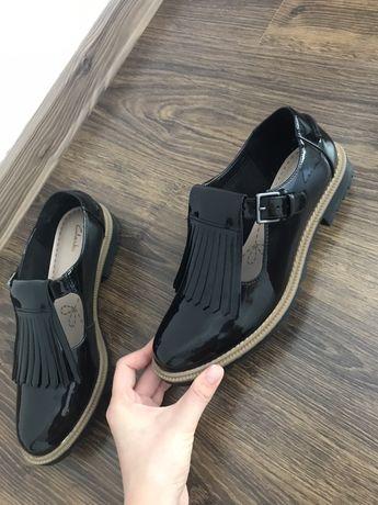 Pantofi oxford Clarks negrii