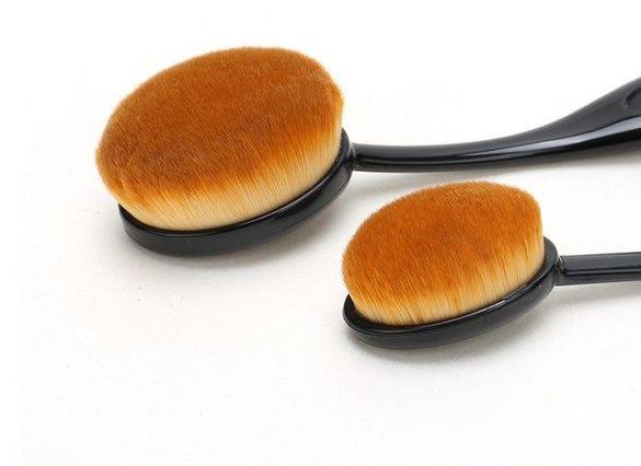 100% ново 5 бр. професионални овални козметични четки комплект