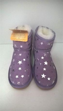 Нови ботуши Cloud nine естествена кожа и овча вълна sheepskin boots ,