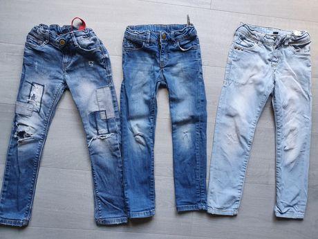 3 perechi jeans Zara 3-4ani 104cm