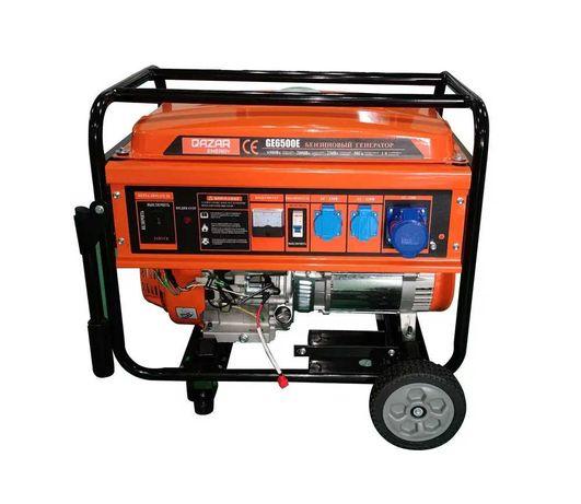 Прочный! Бензиновый генератор Qazar Energy GE6500E