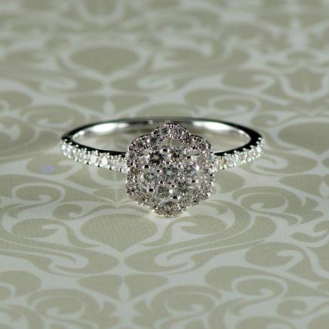 Inel cu diamante din aur alb 18k, 2,89 grame (cod 8251)