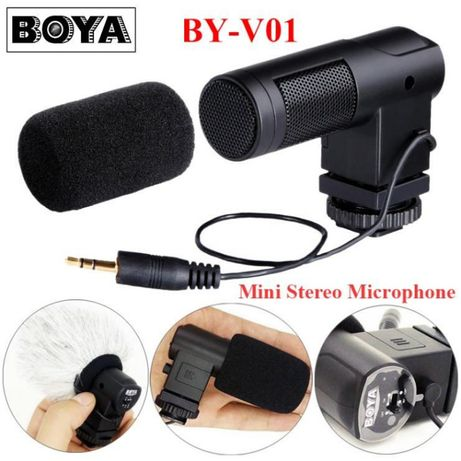 Microfon BOYA BY-V01 Mini X/Y Stereo Condenser pt aparat foto DSLR, Mi